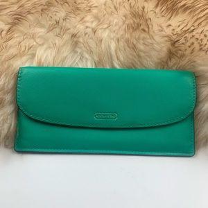 Coach Envelope Ultra Slim Wallet Green